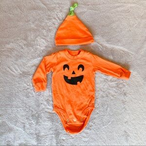 Carter's Baby Halloween Pumpkin Bodysuit & Hat 6M